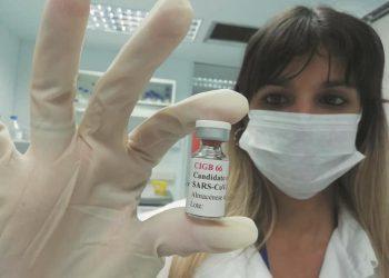Candidato vacunal cubano Abdala contra la COVID-19. Foto: Agencia Cubana de Noticias (ACN).
