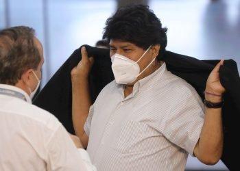 El expresidente de Bolivia Evo Morales, quien está bajo cuidados médicos tras conocerse este martes que dio positivo a la COVID-19. Foto: Miguel Gutiérrez / EFE / Archivo.