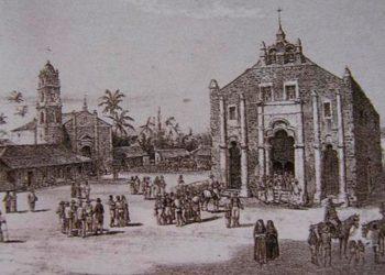 Villa de San Juan de los Remedios, siglo XIX. Grabado de  Federico Mialhe.