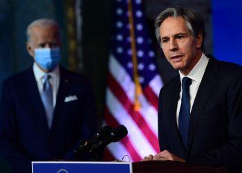 Anthony Blinken (d), secretario de Estado de la Administración Biden. Foto: Carolyn Kaster / AP.