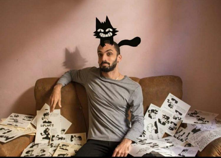 El joven historietista y realizador audiovisual Irán Hernández. Foto: cortesía del entrevistado.