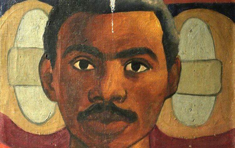 """""""Autorretrato"""", de Roberto Diago Querol, expuesto en Villa Manuela, Uneac. Tomado de resumenlatinoamericano.org"""