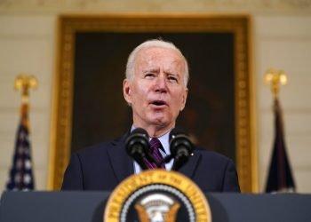 El presidente Joe Biden habla en el Comedor de Estado de la Casa Blanca, en Washington. Foto: Alex Brandon/AP/ Archivo.