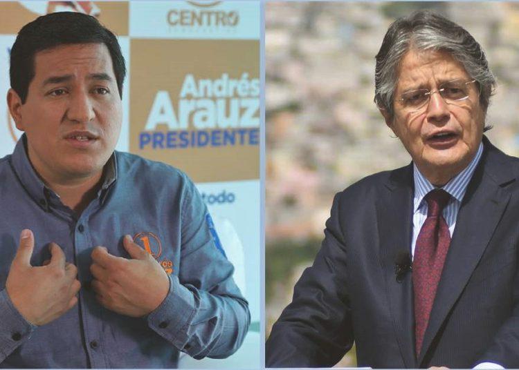 Arauz y Lasso, los candidatos que irán a balotage en abril. Foto: eluniverso.com