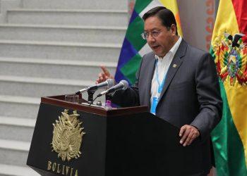 El presidente de Bolivia, Luis Arce, anunció, tras ganar las elecciones generales en octubre pasado, su disposición a restablecer las relaciones con Cuba. Foto: Martin Alipaz/Efe/Archivo