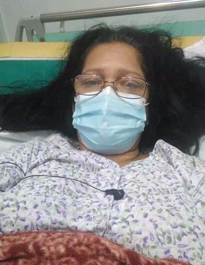 La profesora Marisel Naranjo Mendoz, sobreviviente del accidente de tránsito el pasado 30 de enero en el kilómetro 42 de la Autopista Nacional, en el occidente cubano. Foto: Cortesía de la entrevistada / Escambray.