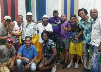 Músicos cubanos seleccionados para grabar con K.C Porter. Foto: cortesía de Alden González.