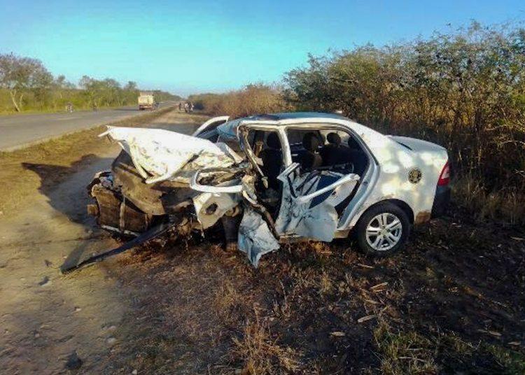 Auto Geely involucrado en accidente de tránsito en Santiago de Cuba. Foto: radiomajaguabo.icrt.cu