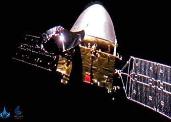 Sonda Tianwen-1 en camino a Marte. Foto: CNSA, vía AP/ Archivo.