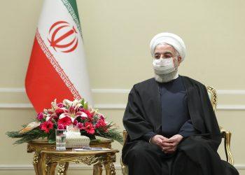 El presidente iraní Hasán Ruhani en Teherán el 7 de marzo del 2021. Foto facilitada por el website oficial de la presidencia iraní. Foto: Presidencia Iraní,  vía AP.