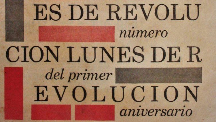 Detalle de la portada del número 52 de Lunes de Revolución.