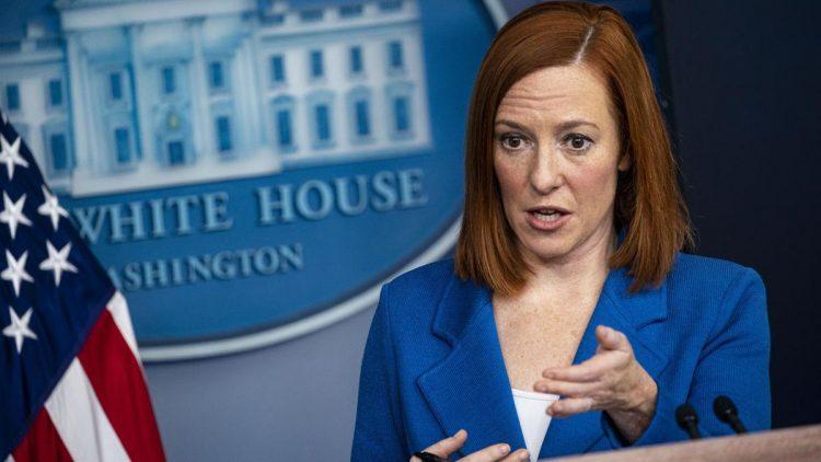 Jen Psaki en una rueda de prensa en La Casa Blanca. | Imagen: AP (Archivo)