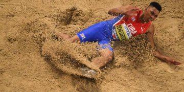 El saltador de longitud cubano Juan Miguel Echevarría. Foto: prensa-latina.cu