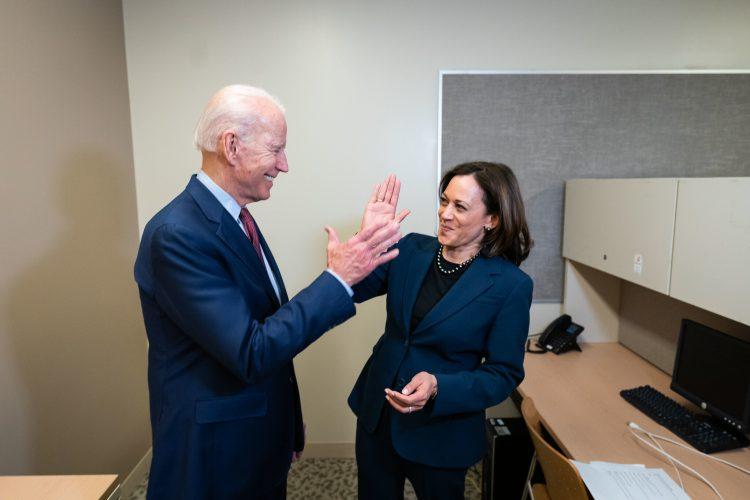 El presidente estadounidense Joe Biden con Kamala Harris durante la pasada campaña electoral. Foto: Campaña presidencial Biden-Harris / Archivo.