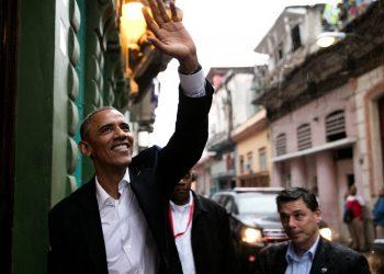 El presidente Barack Obama en una calle habanera. | Foto: Casa Blanca.