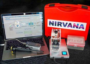 Juan Carlos Izpisua, catedrático de la UCAM, desarrolla un test rápido y portátil para diagnosticar Covid19, y rastrear sus cepas y otros virus. Foto: @UCAM/Twitter.