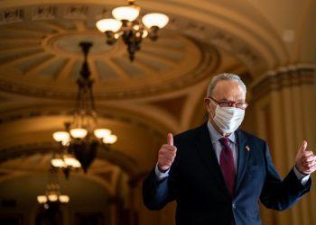 El líder de la mayoría demócrata en el Senado, Chuck Schumer. Foto: LAT.