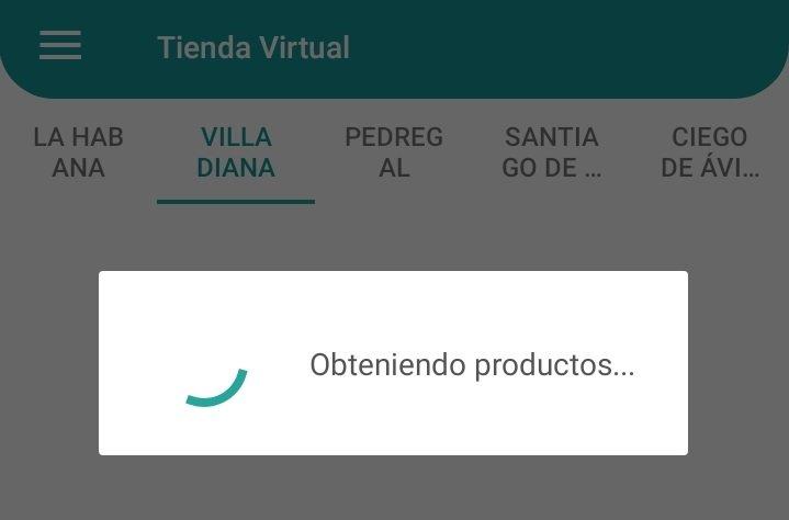 Captura de pantalla de la app En Línea, que permite hacer compras en las tiendas virtuales cubanas.