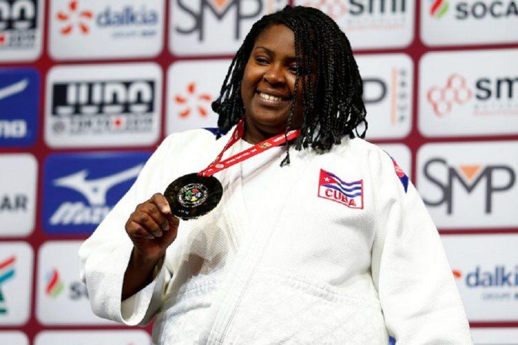 La estelar judoca cubana Idalys Ortiz, multimedallista mundial y olímpica en la división de más de 78 kg. Foto: Ian Langsdon / EFE / Archivo.