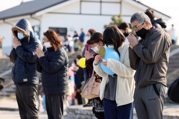 Un silencio por las víctimas. Foto: JIJI PRESS JAPAN/EFE/EPA.