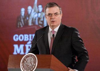 Marcelo Ebrard, el secretario de Relaciones Exteriores mexicano. Foto: Milenio.