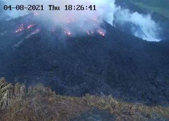 El volcán La Soufriere, en San Vicente y las Granadinas. Foto: VincieRichie / UWI Seismic Research / EFE.