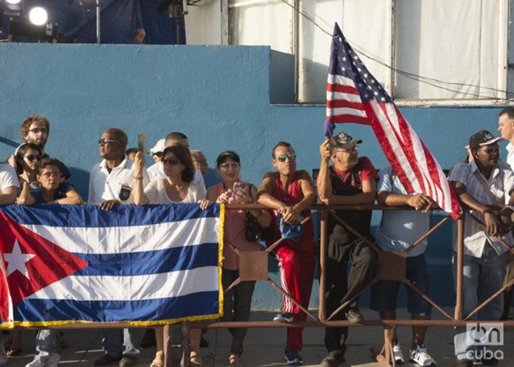 Durante la inauguración oficial de la embajada de Estados Unidos en La Habana, 14 de agosto de 2015. Foto: Alain L. Gutiérrez (archivo)