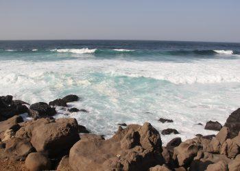Atlántico ante Dakar. Foto de la autora.