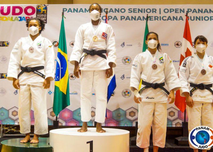 La judoca cubana Arnaes Odelín logró el primer puesto de los 63 Kg. Foto: panamjudo.org