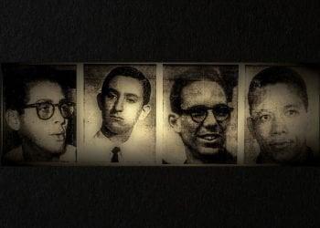 Los mártires de Humboldt 7, de izquierda a derecha: Fructuoso Rodríguez Pérez, Joe Westbrook Rosales, Juan Pedro Carbó Serviá y José Machado Rodríguez.