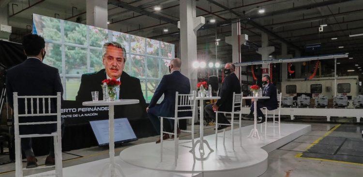 Alberto Fernández durante una videoconferencia, en agosto de 2020. Foto: facebook.com/CasaRosadaArgentina