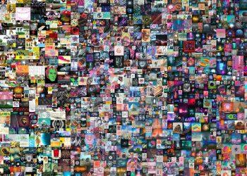 Detalle de la obra de Beeple, subastada por Christie's. Un gran collage de obras digitales dispuestas en Internet durante años. Foto: christies.com