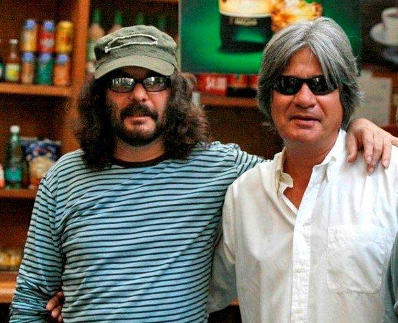 Santiago Feliú (izquierda) y Carballea (derecha) en Argentina. Foto: cortesía de Carballea.