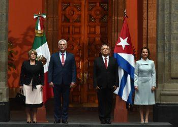 Díaz-Canel y López Obrador, durante la visita del presidente cubano a México, en octubre de 2019. Foto: Estudios Revolución/ presidencia.gob.cu.