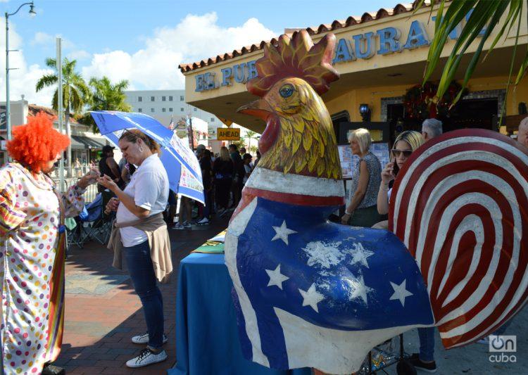 Gallo de la Calle Ocho, Miami. Foto: Marita Pérez Díaz (Archivo).