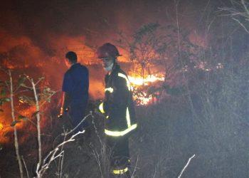 Imagen de archivo de un incendio en la provincia cubana de Matanzas. Foto: Pefil de Facebook del periódico Girón / Archivo.