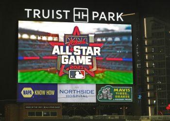 En septiembre del pasado MLB develó el logo del Juego de las Estrellas de Atlanta 2021, que finalmente se moverá a otro escenario. Foto: Curtis Compton.