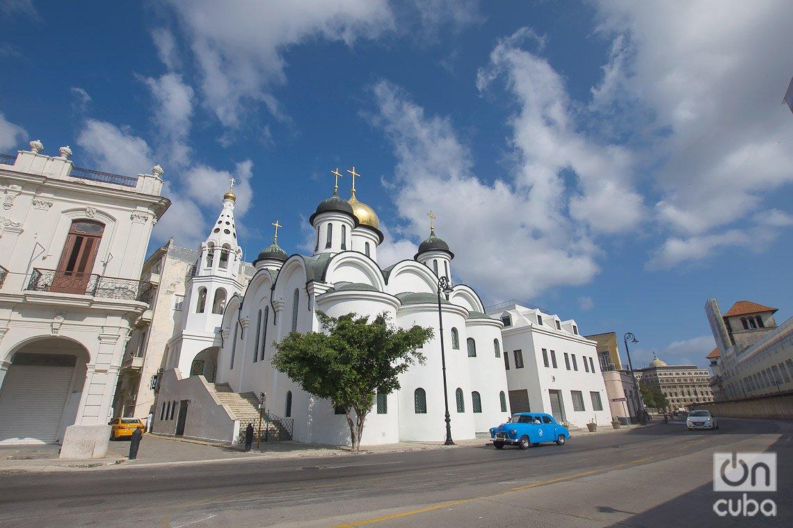 Catedral Ortodoxa Nuestra Señora de Kazán, en las cercanías de la Alameda de Paula, en La Habana. Foto: Otmaro Rodríguez.