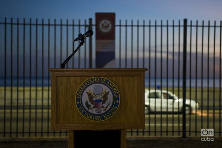 Embajada de Estados Unidos en La Habana. Foto: Alain Gutiérrez (Archivo).