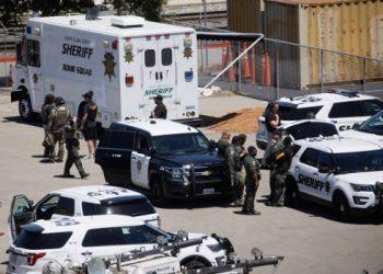 La escena del tiroteo. Foto: The Mercury News.