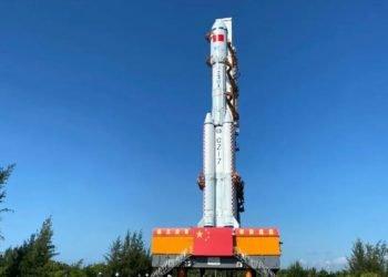 La nave espacial de carga Tianzhou-2. Foto: SpaceNews.