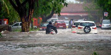 Inundaciones provocadas por el ciclón Tauktae en la India. Foto: Rajtilak Naik / TOI vía @weatherindia / Twitter.
