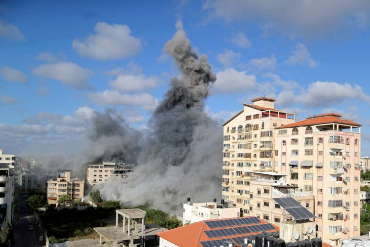 Los bombardeos israelíes seguirán sobre la Franja de Gaza. Foto: CBS.