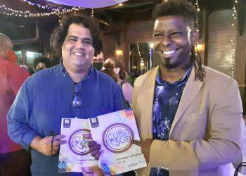 Gastón Joya y Rolando Luna. Foto: Radio Cadena Habana.