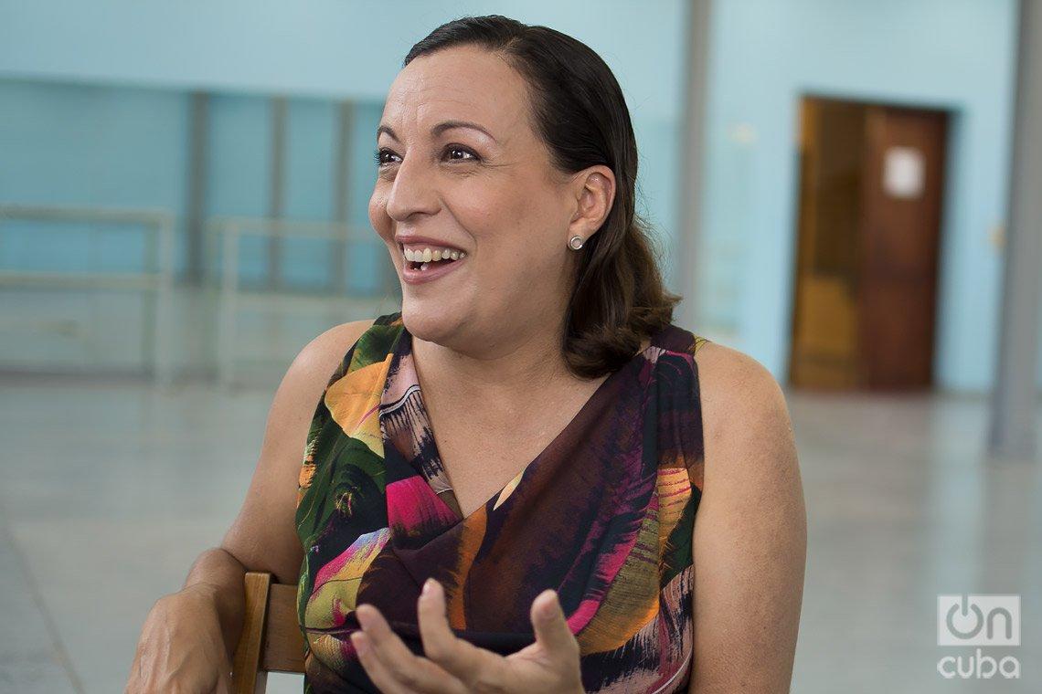 La maestra Lizt Alfonso, durante su entrevista con OnCuba. Foto: Otmaro Rodríguez.