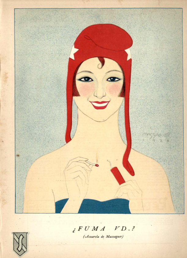 Foto: Social, 1924. Acuarela de Conrado W. Massaguer.