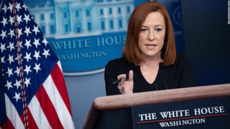 La secretaria de Prensa de la Casa Blanca, Jen Psaki. Foto: AFP.