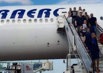 Turistas rusos llegando a Varadero. Foto: ACN.