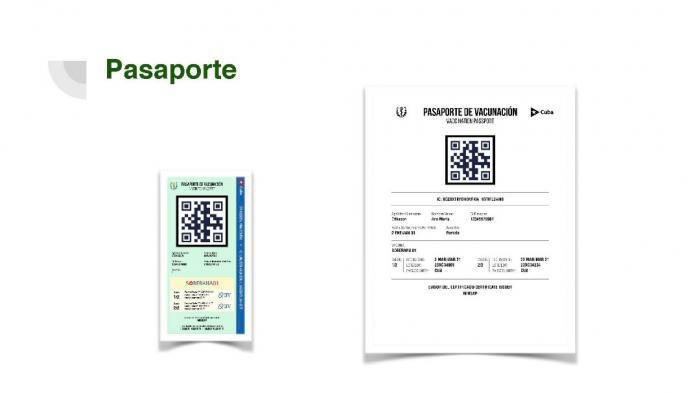 Pasaporte de vacunación anticovid cubano. Inforgrafía: UCI / Granma.