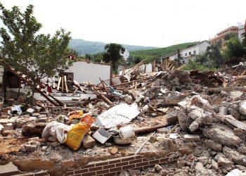 Restos de una vivienda en Yunnan en el terremoto de 2014. Foto: Simon Song